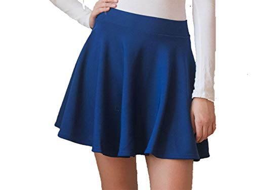 Dames Basic Flared Skater Rok Casual Mini A-lijn Hoge taille Rok Stretchy Flowy Rok Plus Size Rok 8-22