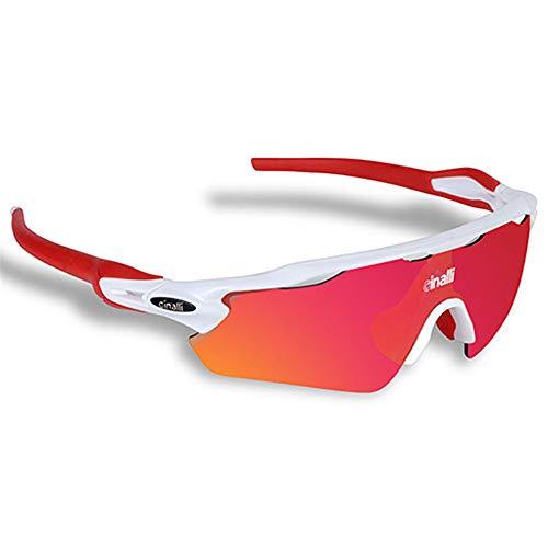 WOXING Ciclismo Decoloración Gafas,Mujer Hombre Aire Libre Deportes Deportivas Correr Transparente Vintage Gafas De Sol,HD Protección UV Antideslumbrantes,Pesca Viajes-A 13.6x4.6cm(5x2inch)