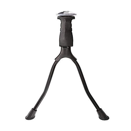 KKJLXX Fahrrad Ständer Schwarz Faltbare Doppel Leg Gebirgsstraßen-Fahrrad Hinterbauständer Halterung luminum-Legierung und Eisen Bein Fuß-Unterstützung for 26 '' Fahrrad