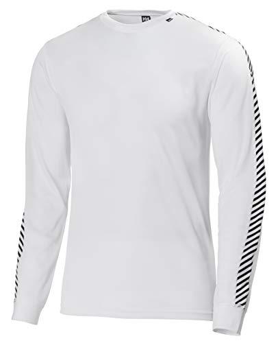 Helly Hansen Dry Stripe Crew T-Shirt à manches longues Homme, Blanc, L