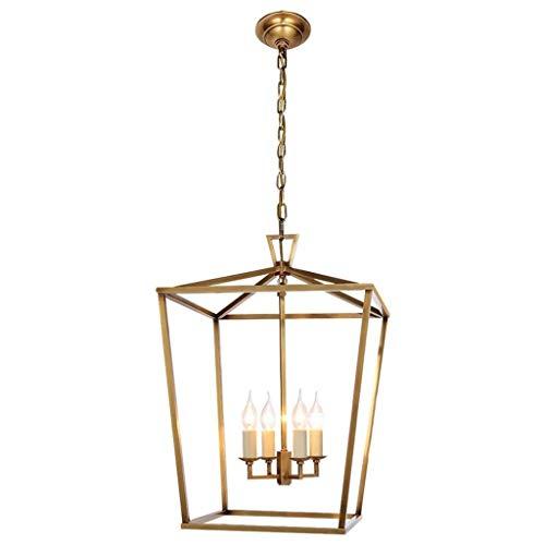 Dongyd Retro hangende lamplantaarn kroonluchter met 4 kaarsen Loft plafondlamp voor vakantie op de boerderij keukeneiland, eetkamer, woonkamer, trappenhuis