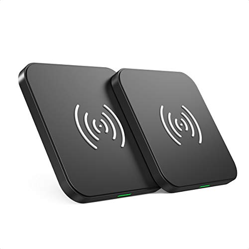 CHOETECH Wireless Charger 2 Pack, 10W Fast QI Induktion Ladestation kabelloses Ladegerät for iPhone 12/mini/12 Pro Max/SE 2020/11/ 11 Pro Max/XS MAX/XR/XS/X, Galaxy S20/Note 20/10/S10/S9, AirPod 2/Pro