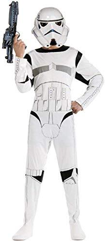 Kostuum - vermomming - carnaval - halloween - witte krijger - star wars - kind - maat s - 5/6 jaar star wars stormtrooper