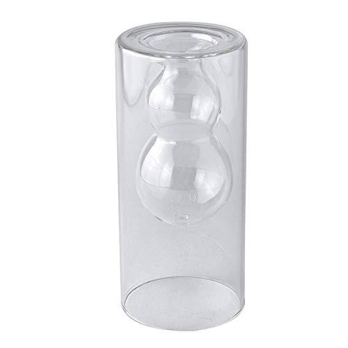 SPICE OF LIFE(スパイス) 花瓶 ガラスダブルウォール ベース LABO GLASS ダブルボール クリア 直径8×18cm 水耕栽培 ハイドロカルチャー 観葉植物 KEGY7030C