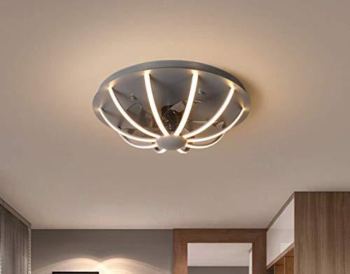 LGC Deckenventilator mit Beleuchtung, LED Moderne Deckenleuchten Dimmbar 64W 3-Gang Deckenventilator Dimmbar mit Fernbedienung Ultra-leises Lüfterlicht für Schlafzimmer Ø60 * H20CM