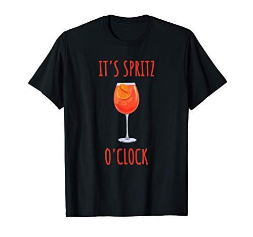 Its Aperol Oclock Cocktail Drink estivo Aperol Maglietta
