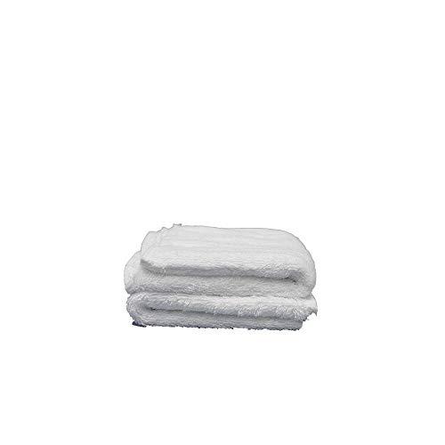 Juego de 2 Toallas de Lavabo Damasco 50x100 cm, 100% algodón de 520 g/m2 con Rizo Americano de 1 Cabo