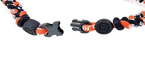 『三つ編みゲルマニウムネックレス スポーツネックレス アスリートネックレス 6mm 赤黒黒 RB-RDBKBK』の4枚目の画像