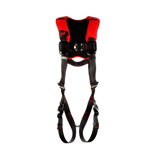 3M Personal Protective Equipment Protecta Comfort Vest-Style Harness 1161427, Black, Medium/Large, 1 Ea/Case