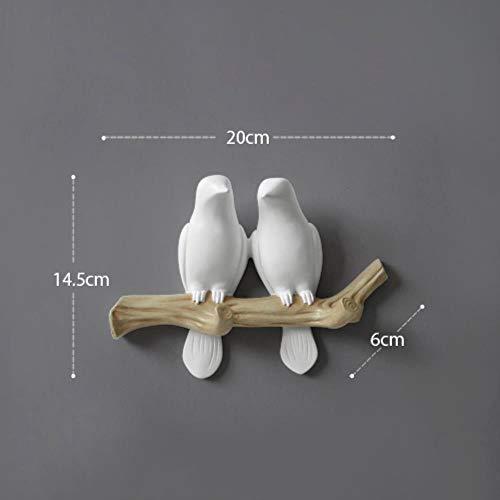 Vogel - Gancho de pared para decoración de casa, accesorios de salón, colgador de resina, para llaves, abrigo, ropa, toalla, bolso, bolso de mano, moderno y vivo
