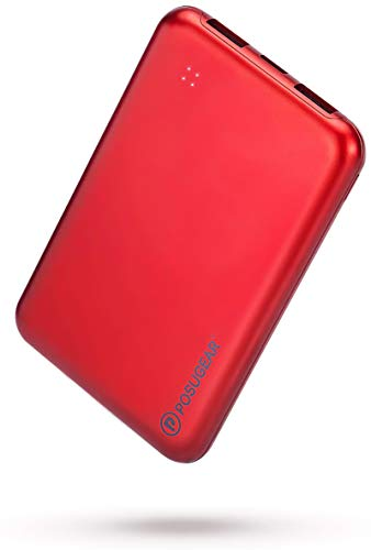 POSUGEAR bateria Externa movil 10000 mAh, PowerBank de Alta Capacidad 2A 2 Puertos con 4 Luces LED, Compatible con iPhone, Samsung, Huawei, iPad, etc.…