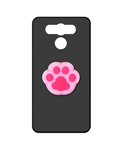 Sunrive Kompatibel mit Elephone P9000 Hülle Silikon, Ständer Fingerhalter Fingerhalterung Handyhülle matt Schutzhülle Etui Hülle (Rosa Katze Hand) MEHRWEG