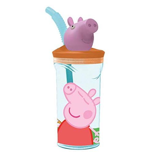 Peppa Pig 3D Trinkbecher mit Strohhalm