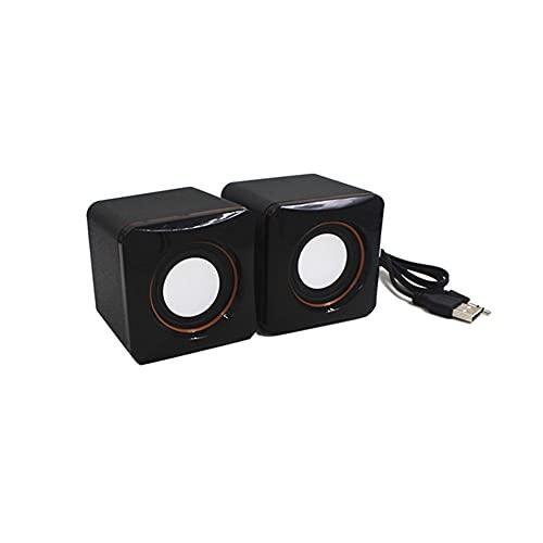 LPZW Altavoces de la computadora Universal USB Power Computer Speaker Stereo 3.5mm pulg for Ordenador Personal Laptop Wired Bass Sound (Color : Black, Set Type : Speaker)