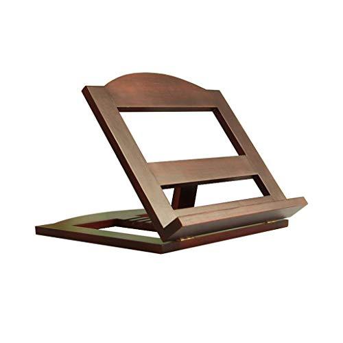TLMYDD Cama portátil Escritorio de la Tabla Ajustable Plegable sólido Holder Madera de Lectura del sofá ergonómico Mesa