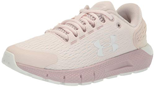 Under Armour Charged Rogue 2, Zapatillas para Correr Mujer, French Gray 601 Dash Pink, 42.5 EU