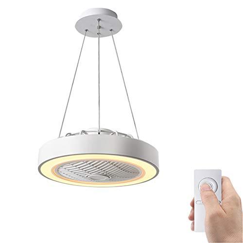 SXYY-Abgehängte Decke LED Modern Deckenventilator Licht/Unsichtbares Fan Licht - Deckenventilatoren Mit Beleuchtung Und Fernbedienung, Für Schlafzimmer/Küche/Wohnzimmer, Φ18.11In 72W