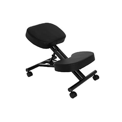 Chaise Ergonomique pour agenouiller - Variable Chaise -Bureau Chaises orthopédique Posture - Siège réglable, Sans dossier, Structure en métal...