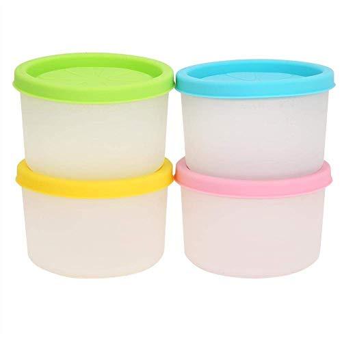 Set van 4 Babyvoeding Storage Containers Kleine Herbruikbare Silicone Weaning Freezer Potten Potten Juice Cups BPA Free Kids Snacks Lunch Container met Dichte Deksels (Maat: 120 ml) (Size : 120ml)