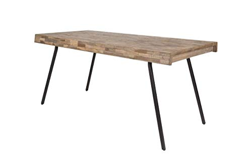 Design Esstisch Suri 180 x 90 cm Platte Recycled Teak