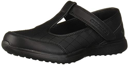 Skechers Kids Girls' MICROSTRIDES Sneaker, Black/Black, 11 Medium US Little Kid
