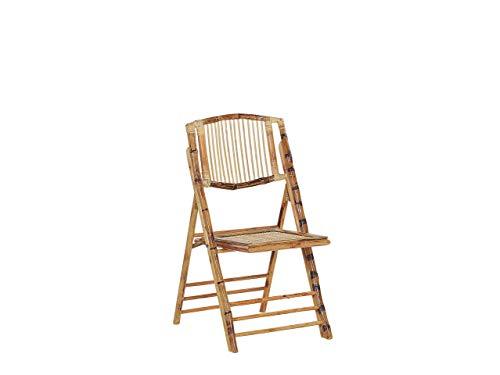 Beliani Conjunto de 4 sillas de bambú TRENTOR