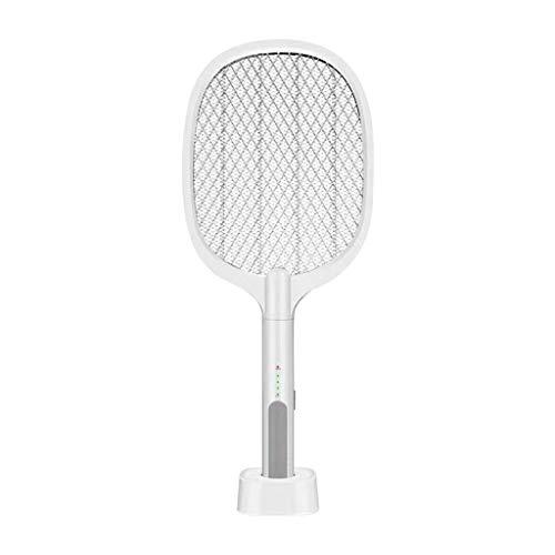 Elektrische Fliegenklatsche,Fliegenfänger Elektrisch 3000V Insektenvernichter USB Wiederaufladbar Moskito Zapper mit 1200mA Wiederaufladbarer Akku,Keine Chemikalie Ideal für Drinnen und Draußen