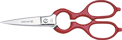 WÜSTHOF Küchenschere (5551), 21 cm, rot/Silber, unentbehrlicher Helfer in jedem Haushalt, liegt gut in der Hand