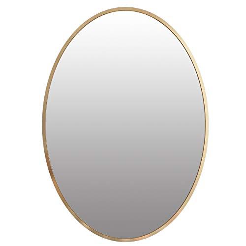 Homede Spiegel Wandspiegel 70 x 50 cm Wanddeko Deko Ebele Antik Gold Antique oval