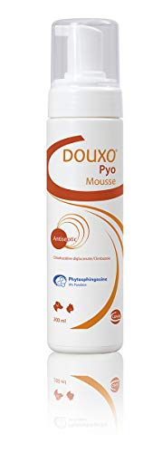 Douxo Pyo Mousse, Veterinario Recomendado Antibacteriano/antifúngico para Perro/Gato champú seco 200ml