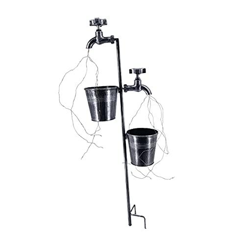 Amuzocity Lámpara de Jardín de Terrazas Solares con Luz de Cadena Y Cubeta de Agua para Jardín