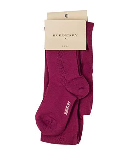 Burberry 6775U calzamaglia bimba cotone fucsia calze tights kid