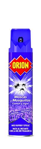 Orion - Insecticida en Aerosol contra Moscas y Mosquitos, Aroma Lavanda - 600 ml