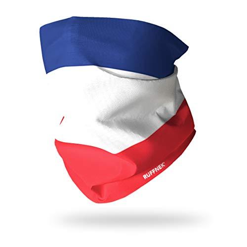 Ruffnek Drapeau DE France/Tricolore Francais - Cache-Cou/Bandeau/Multifonctionnel Écharpe - Taille Unique pour Homme, Femmes et Enfants - pour Le Sport et Le Plein air