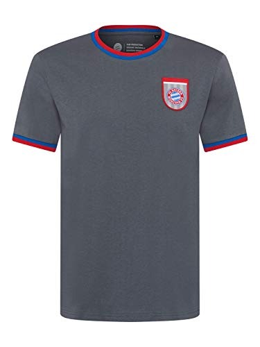 FC Bayern München T-Shirt Retro grau, L