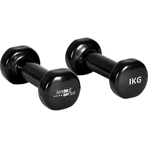 Christopeit Vinyl Hanteln 2 Stück a 1 kg Sport Aerobic Fitness Gewichte Gymnastik Kraftsport