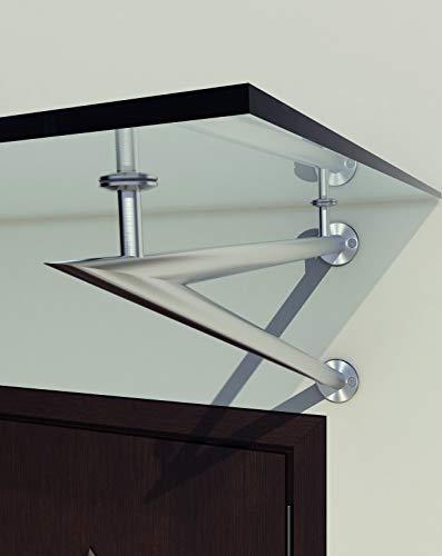 Preisvergleich Produktbild BuyLando - Typ-V - 1 Set Halterung für Glasvordach - Edelstahl Halterung - Vordachhalterung V2A