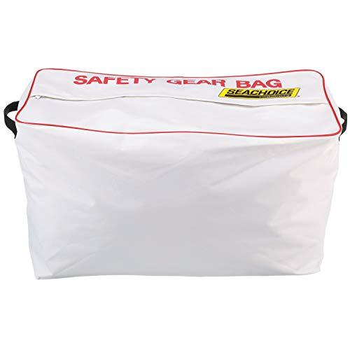 SEACHOICE 44980 Large-Capacity Heavy-Duty Emergency Marine Safety Gear Bag, White