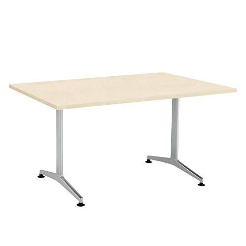 【配送・組立・設置込】 コクヨ ミーティングテーブル JUTO MT-JTT159S81M10 角形天板 T字脚 幅150×奥行90cm 天板ホワイトナチュラル/脚フラットシルバー アジャスタータイプ