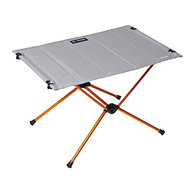 Helinox Table One Hard Top Lightweight, Collapsible, Portable, Outdoor Camping Table, Regular - 23 x 15.5 Inches, Grey