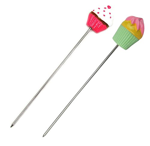 MEYKISS Cake Tester, Stainless Steel Cake Tester Probe Skewer Kitchen Baking Tools, Set of 2