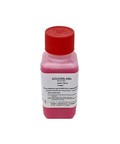 Lötpaste/Flussmittel/Lötwasser PinQ 100 ml - konventionelles Weichlöten von Eisen-, Kupfer- und Messingwerkstoffen, gebrauchsfertige Flussmittelpaste, halogenaktiviert, 100 ml Flasche (kindersicher)