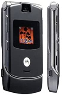No Credit Check Verizon Wireless Motorola RAZR V3 No Contract with Camera - Blue-tooth Capable (Silver-Grey) for Contract or Prepaid Plans