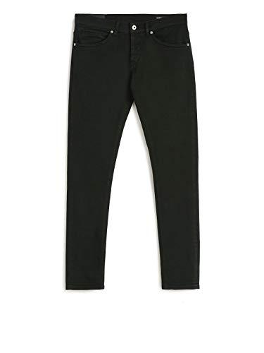 DONDUP Jeans Nero, Modello George Skinny Fit, Chiusura Frontale con Bottoni, 2 Tasche Frontali, 2 Tasche sul Retro, Targhetta Logata sul Retro 31