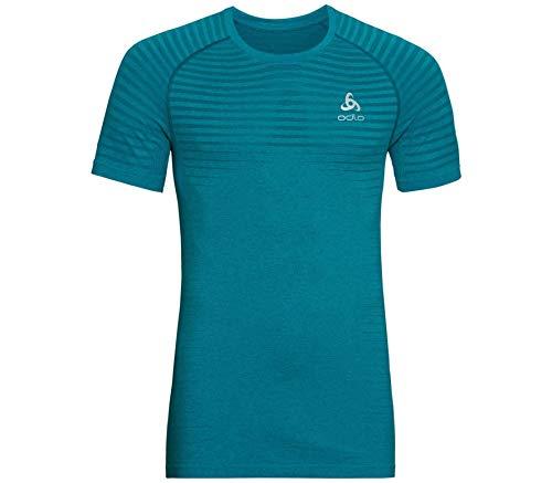 Odlo Camiseta para Hombre S/S de Cuello Redondo, sin Costuras, Element, Hombre,...