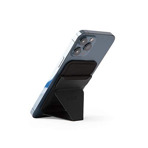 MOFT マグネットスマホスタンド iPhone 12シリーズ専用 MagSafe/MagSafe専用スマホケースに対応 カードケース機能 フロートタイプ角度調節 薄型軽量 折り畳み式 複合材質 内蔵磁石十六個