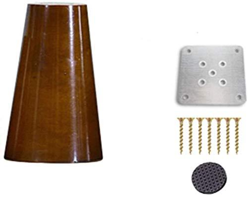 EKL - Gambe di mobili in legno, per divano, sedia, letto, credenza, tavolo da tè, mobili in legno, gambe di ricambio, 10 cm