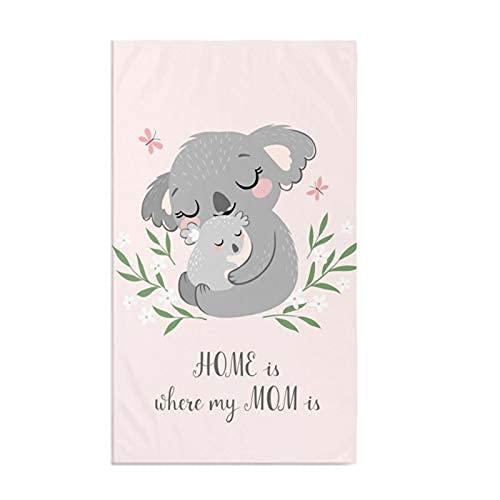 Lindo Koala - Toalla de cocina para mamá y bebé, suave y altamente absorbente, para decoración del hogar, multiusos, para baño, hotel, gimnasio y spa, 15.7 x 27.5 pulgadas