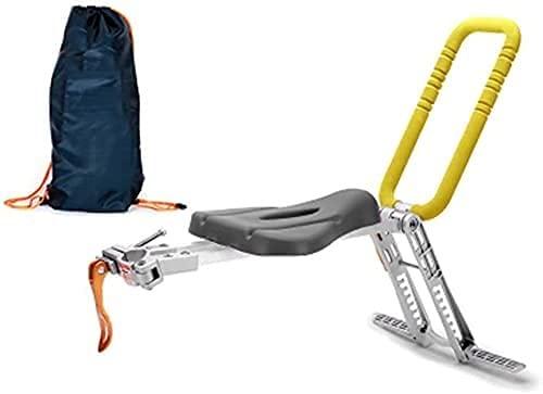 LXNQG Asiento de Bicicleta para niños Plegables con pasamanos portátiles para niños Portador Delantero para la Ciudad compartida/Fitness/Plegable/Bicicletas de Crucero (Color : Yellow)