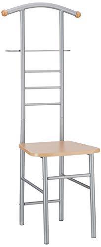 Haku Möbel valet stand - de acero con el asiento, altura 119 cm